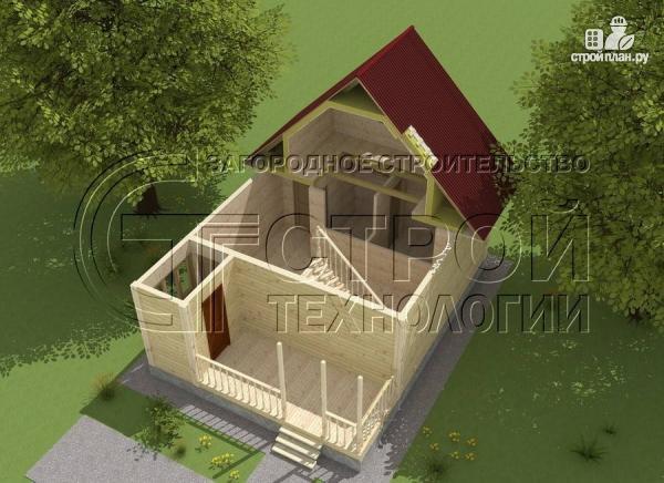 Фото 4: проект дом 6х8 мс террасойимансардой