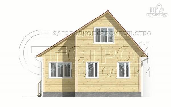 Фото 7: проект загородный дом 5x7,5 мс мансардным этажом, террасой и верандой