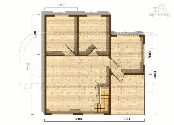 Фото 5: проект загородный дом 5x7,5 мс мансардным этажом, террасой и верандой