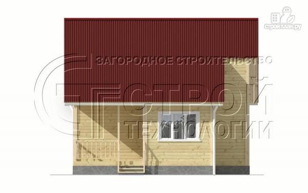 Фото 9: проект загородный дом 5x7,5 мс мансардным этажом, террасой и верандой