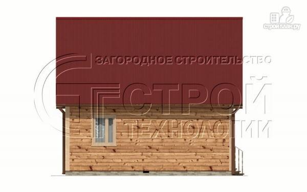 Фото 8: проект загородный дом 7x7 мс мансардой, террасой и лоджией