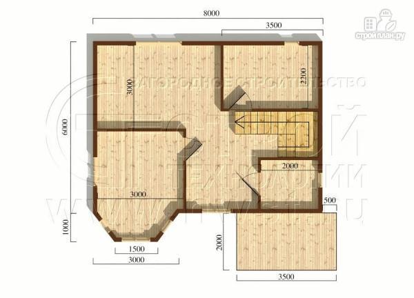 Фото 4: проект загородный дом 6x8 мсэркером, террасойи мансардой