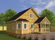 Проект загородный дом 6x8 мсэркером, террасойи мансардой