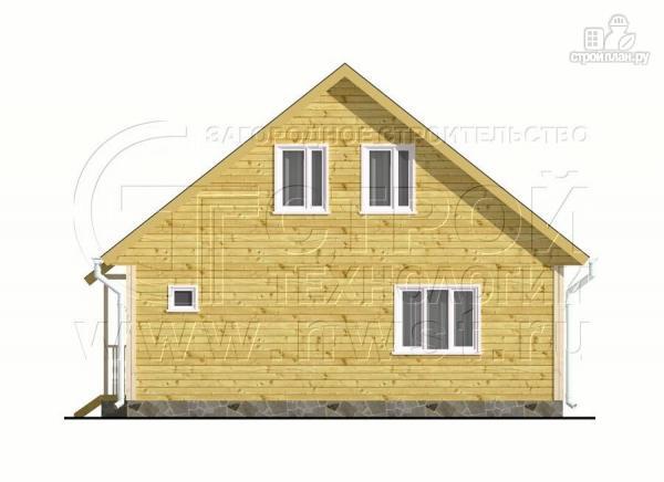 Фото 8: проект загородный дом 6x8 мсэркером, террасойи мансардой