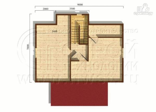 Фото 6: проект коттедж6x9 м полтора этажас верандой 10 м2и мансардным этажом