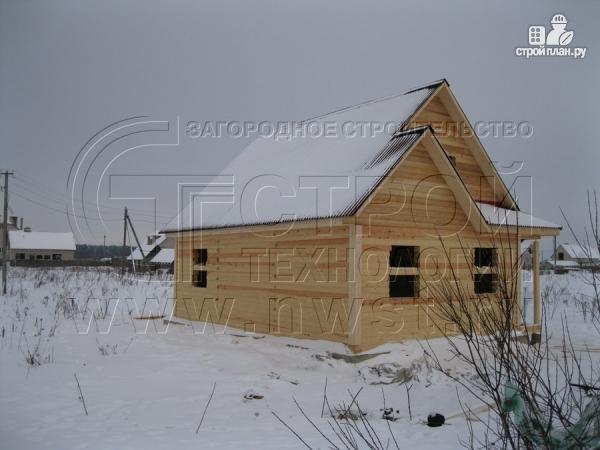 Фото 13: проект загородный дом6x9 мс террасой 9,5 м2и мансардой