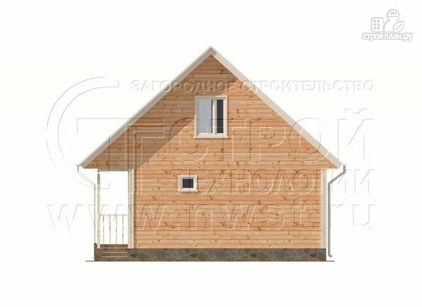 Фото 9: проект загородный дом6x9 мс террасой 9,5 м2и мансардой