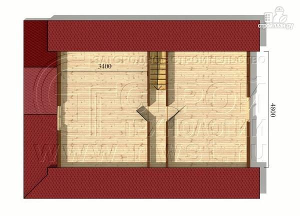 Фото 6: проект загородный дом6x9 мс террасой 9,5 м2и мансардой