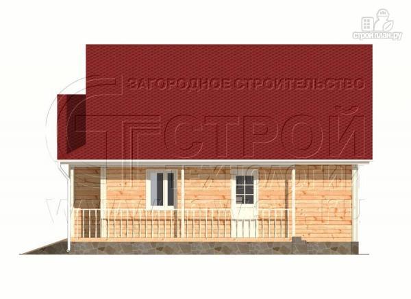 Фото 7: проект загородный дом6x9 мс террасой 9,5 м2и мансардой
