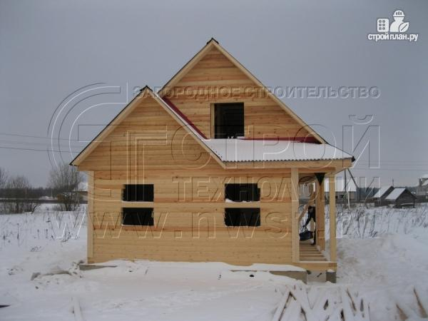 Фото 12: проект загородный дом6x9 мс террасой 9,5 м2и мансардой