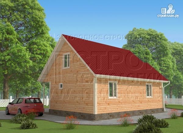 Фото 3: проект загородный дом6x9 мс террасой 9,5 м2и мансардой
