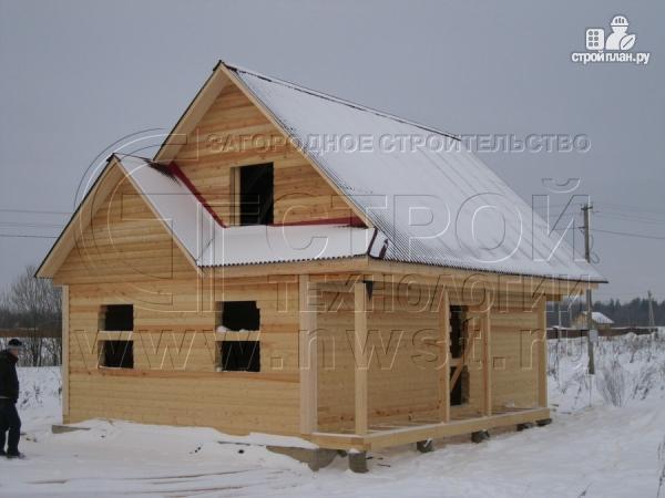 Фото 11: проект загородный дом6x9 мс террасой 9,5 м2и мансардой