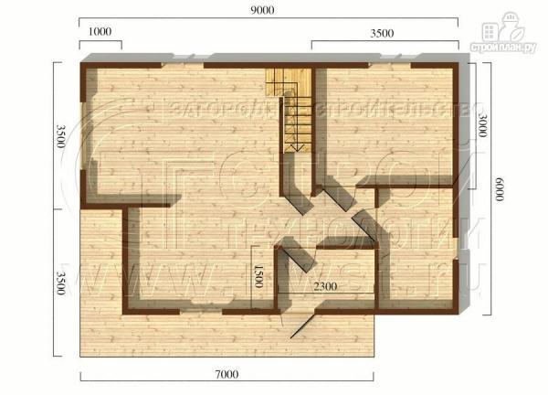 Фото 5: проект загородный дом6x9 мс террасой 9,5 м2и мансардой