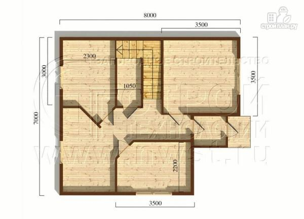 Фото 5: проект коттедж 7x8 мс мансардным этажом