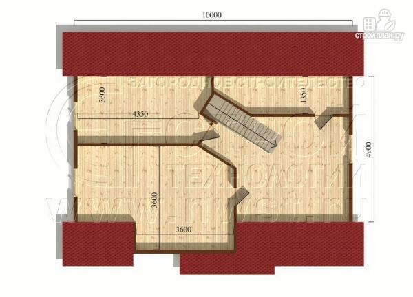 Фото 6: проект коттедж 7,5x10 м с мансардой и верандой