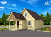 Проект дачный дом 6x7 мс террасой