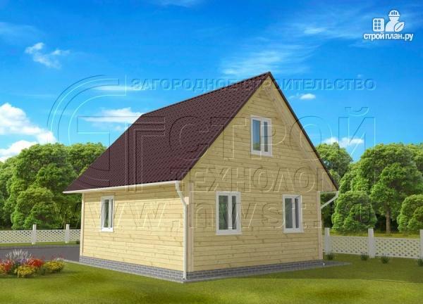 Фото 2: проект дачный дом 6x7 мс террасой