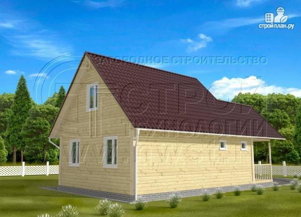 Фото 3: проект дачный дом 6x7 мс террасой