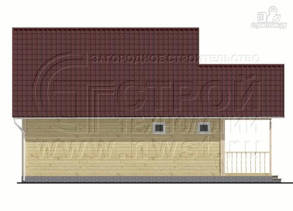 Фото 9: проект дачный дом 6x7 мс террасой