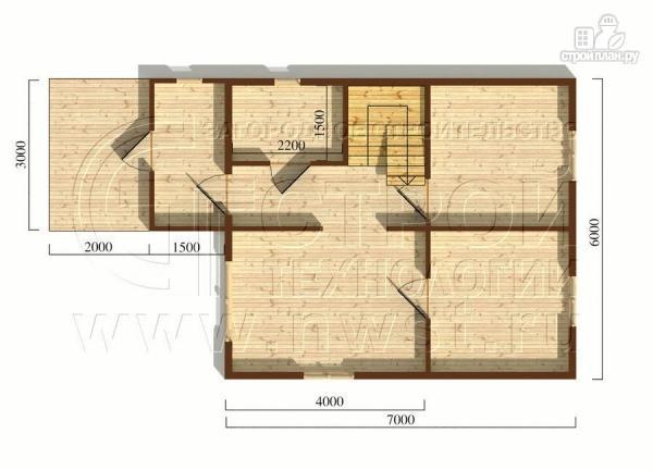 Фото 5: проект дачный дом 6x7 мс террасой