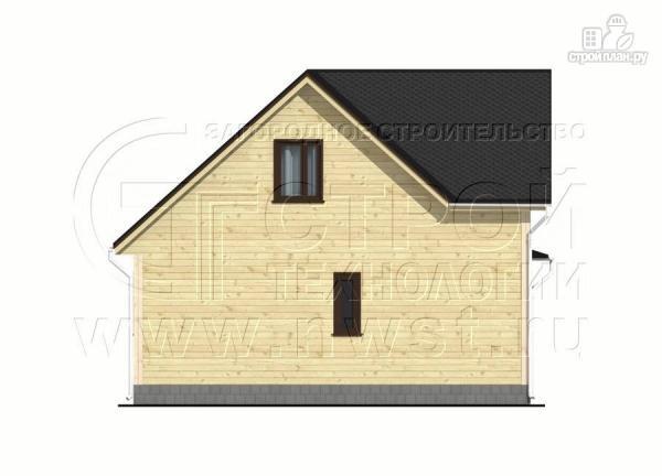 Фото 8: проект дачный дом 7x7 мсэркером иугловой террасой