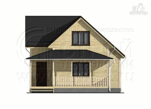 Фото 7: проект дачный дом 7x7 мсэркером иугловой террасой