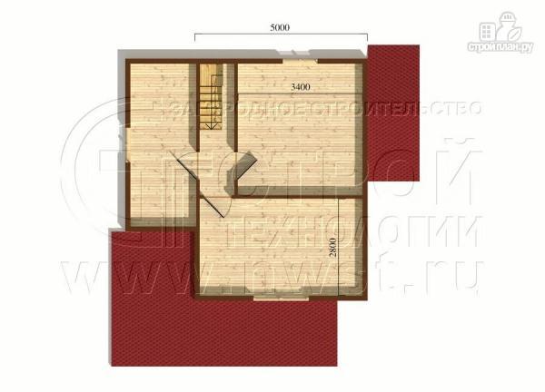 Фото 6: проект дачный дом 7x7 мсэркером иугловой террасой