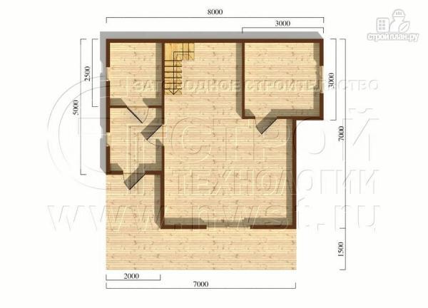 Фото 5: проект дачный дом 7x7 мсэркером иугловой террасой