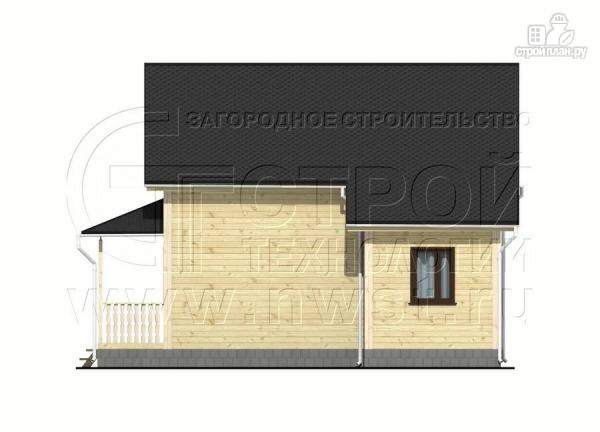 Фото 10: проект дачный дом 7x7 мсэркером иугловой террасой