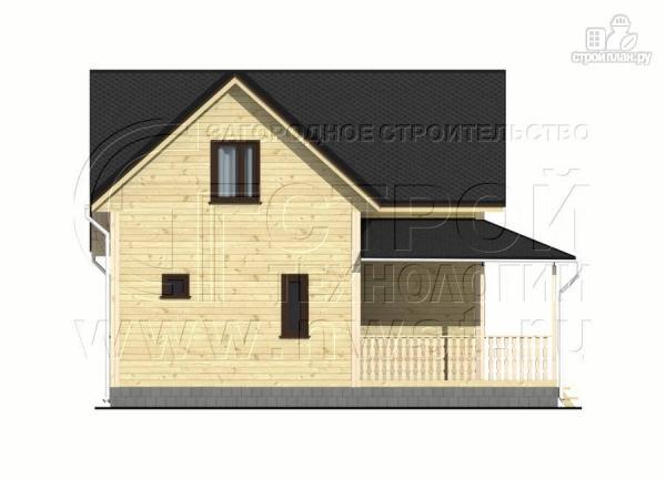 Фото 9: проект дачный дом 7x7 мсэркером иугловой террасой