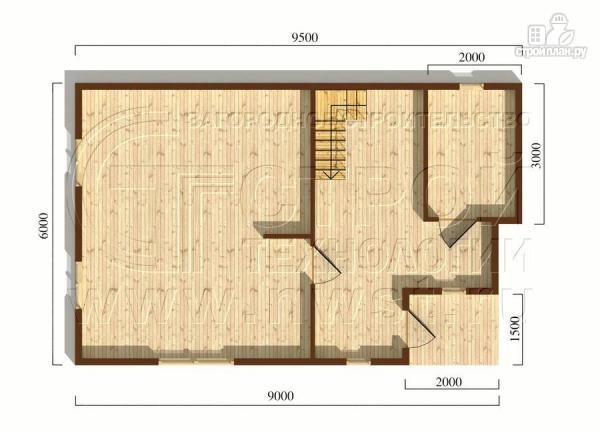 Фото 5: проект загородный дом 6x9 мс балконом и мансардным этажом
