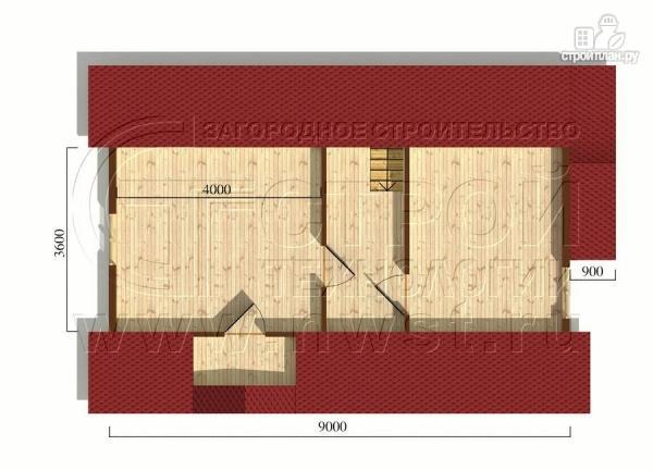 Фото 6: проект загородный дом 6x9 мс балконом и мансардным этажом