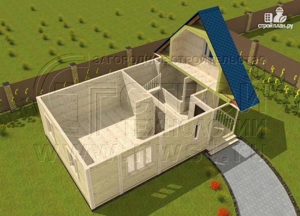 Фото 4: проект загородный дом 6x9 мс балконом и мансардным этажом
