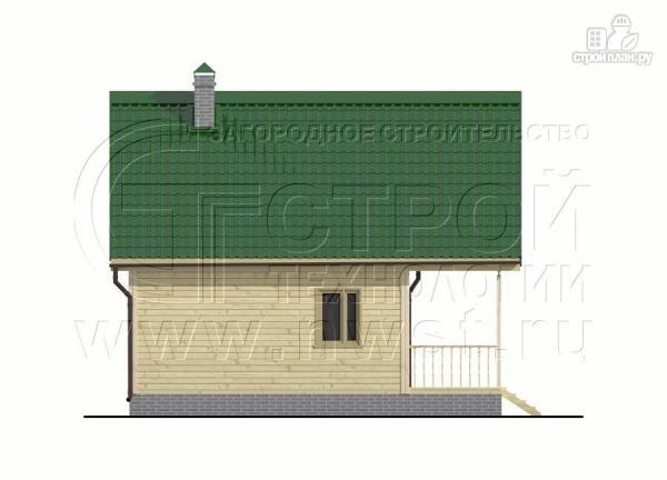 Фото 10: проект загородный дом 6x6 мс террасой, лоджией и мансардой