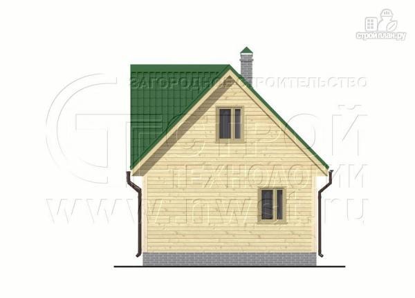 Фото 9: проект загородный дом 6x6 мс террасой, лоджией и мансардой