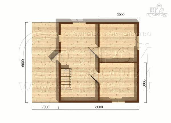 Фото 5: проект загородный дом 6x6 мс террасой, лоджией и мансардой