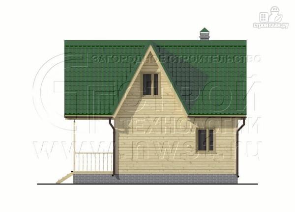 Фото 8: проект загородный дом 6x6 мс террасой, лоджией и мансардой