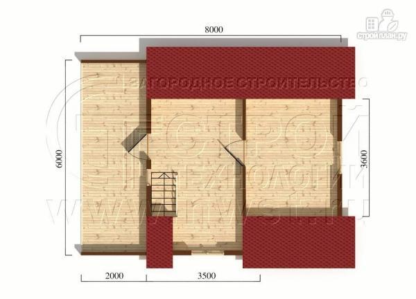Фото 6: проект загородный дом 6x6 мс террасой, лоджией и мансардой