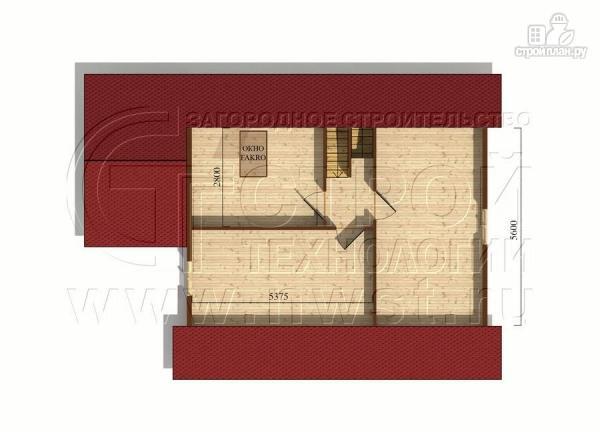 Фото 6: проект загородный дом 8x10 м с террасой и мансардой