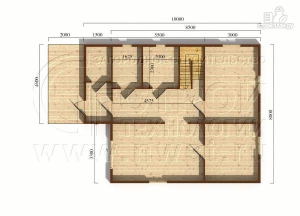 Фото 5: проект загородный дом 8x10 м с террасой и мансардой