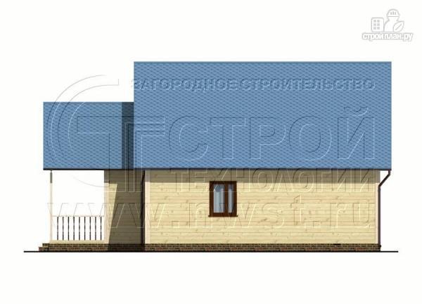 Фото 7: проект загородный дом 8x10 м с террасой и мансардой