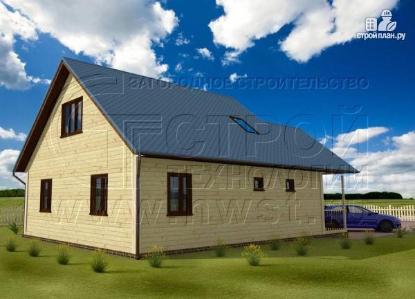 Фото 3: проект загородный дом 8x10 м с террасой и мансардой