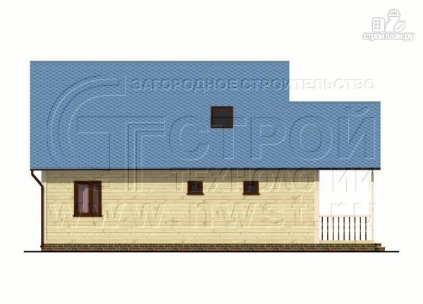 Фото 8: проект загородный дом 8x10 м с террасой и мансардой