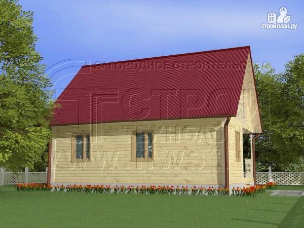 Фото 3: проект загородный дом 8x6 мс мансардойи лоджией