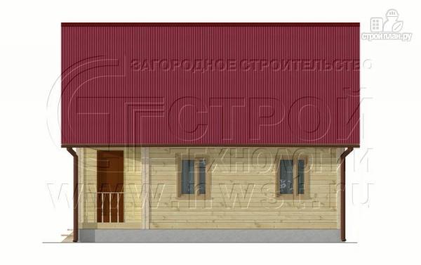 Фото 10: проект загородный дом 8x6 мс мансардойи лоджией