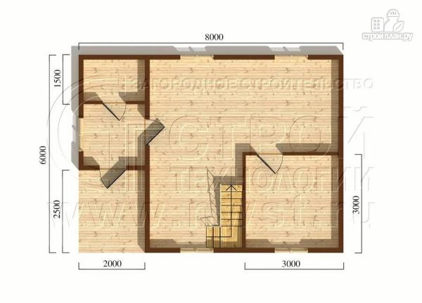 Фото 5: проект загородный дом 8x6 мс мансардойи лоджией