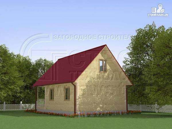 Фото 2: проект загородный дом 8x6 мс мансардойи лоджией