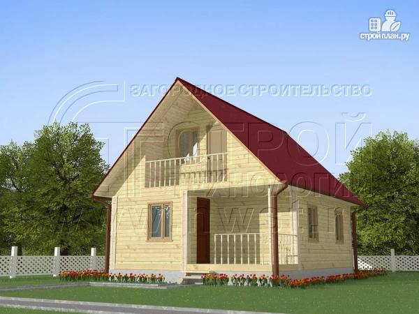 Фото: проект загородный дом 8x6 мс мансардойи лоджией