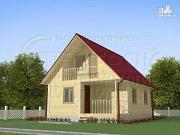 Проект загородный дом 8x6 мс мансардойи лоджией