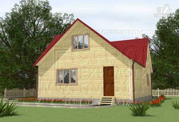 Фото: проект загородный дом 8x11 мс мансардным этажом